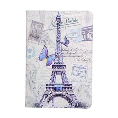 Flower Tree Eiffel Tower Card Slot Pu leather stand holder Cover Case For Samsung Galaxy Tab A 9.7 T555 T550 with stylus pen