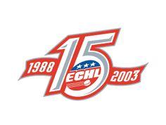 ECHL 15th Anniversary Sports Graphics, Logo Design, Graphic Design, Game Logo, Sports Logo, Sport Design, Design Inspiration, 15 Years, Logos
