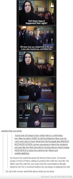 And she is a bigger challenge for Snape to win over without dying or kill her...