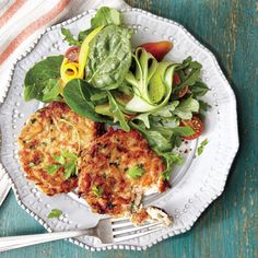 The Best-Ever Crab Cakes | MyRecipes.com You probably have most of the ingredients on hand for these simple, elegant crab cakes; just make a quick run to the seafood market for fresh lump crabmeat. Toss together a bright, seasonal salad while the crab cakes chill.