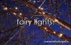 <3 Fairy lights.
