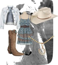 """""""Cowgirl outfit RP"""" by lunarlover on Polyvore"""
