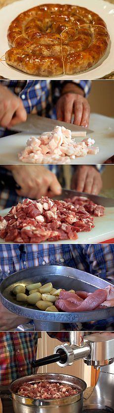 Запечённая свиная колбаса