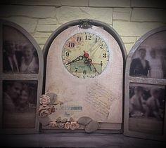 Clock idea vintage design Vintage Designs, Clock, Home Decor, Watch, Homemade Home Decor, Clocks, Interior Design, Home Interiors, Decoration Home