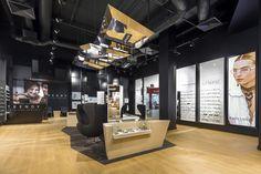 Trendy by Vision Express optician saloon by EMKWADRAT Architekci, Lodz - Poland Visual Merchandising, Eyeglass Stores, Design Furniture, Store Design, Poland, I Shop, Interior, Studio, Shopping