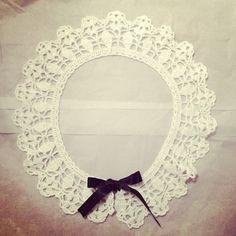 white collar  #crochet
