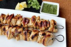 Lemon Chicken Kebabs