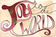 Joy to the World 8x12 Print by thewoodlandbrush on Etsy