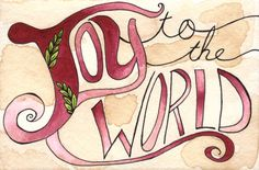 Joy to the World 8x12 Print by thewoodlandbrush on Etsy