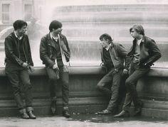 Rockers in Trafalgar Square, London, 1967
