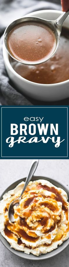 Easy Beef Broth Brown Gravy --easy to prep in just 10 minutes with only 5 ingredients, perfect for meats, potatoes, and more!   lecremedelacrumb.com