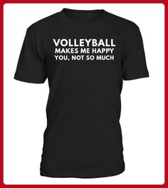 Volleyball makes me happy - Volleyball shirts (*Partner-Link)