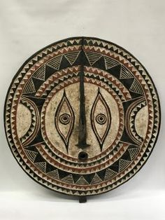 Large Plank Bwa Sun Mask from Burkina Faso
