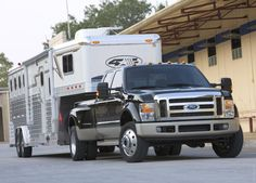 Ford Super Duty- to haul the horse trailer of course! Livestock Trailers, Horse Trailers, Lifted Ford Trucks, Pickup Trucks, Cool Trucks, Big Trucks, Farm Trucks, Gooseneck Trailer, Future Trucks