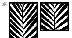 Palm LEAF SCREEN PANEL cnc template cutting file by CncFactory