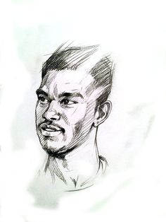 Pencil Drawing of Wilson Kneeshaw by Terry Kneeshaw.