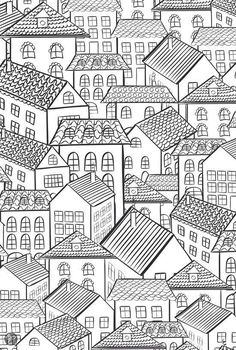 houses colouring