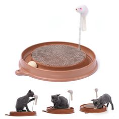 Funny Pet Cat Kitten Favorite Amusement Plate FunBall Cute Mice Mouse Toys Cat Scratcher Toy for Pet Cat Training Cat Toy