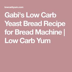 An easy to make keto yeast bread recipe for the bread machine. It's a fantastic low carb sandwich bread that's similar to real bread! Yeast Bread Recipes, Bread Machine Recipes, Keto Recipes, Low Carb Bread, Low Carb Diet, Banting Bread, Low Carb Sandwiches, Keto Broccoli Cheese Soup, Easy Freezer Meals