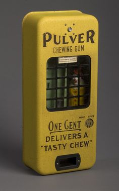 Pulver chewing gum vending machine