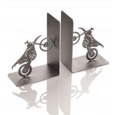 Motorcycle Bookends- Dirt bike