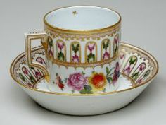 Cup and Saucer NYON PORCELAIN FACTORY (SWISS, 1780–1860) C. 1800