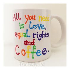 Because, priorities? Priorities, Equality, Hand Painted, Mugs, Instagram Posts, Collection, Social Equality, Cups, Equation