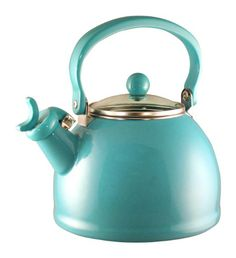 Turquoise Whistling Tea Kettle/ A cup of tea is refreshing, & add a few cookies  or dessert & it can perk up your day!!!!! The picture is pretty too, & makes it appear quite charming to me..... It seems God also gives us little times to lift us up even higher, & those times have sweetness in them also..... I delight in those times.....