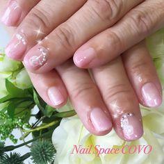 #富山県 高岡市#ネイルサロン #NailSpaceCOVO #花嫁のお母様#ピンク #グラデーション#キラキラ#パール#いつもありがとうございます ✨