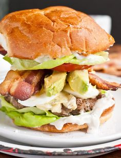 Cobb Salad Burger from NeighborFood | Neighborfoodblog.com
