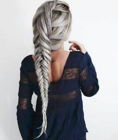 Her hair would be long, she would hate it short, more room for flowers and pretty hairstyles for her. Plus she absolutely loves having her hair played with. Pigtail Hairstyles, Braided Hairstyles, Updo Hairstyle, Braided Updo, Unique Hairstyles, Pretty Hairstyles, Fashion Hairstyles, Wedding Hairstyles, Pinterest Hair