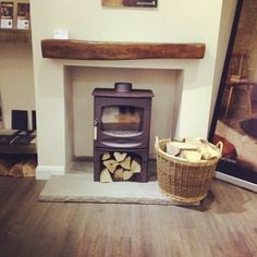 charnwood c5 - Google Search Log Burner, Fireplace Design, Stoves, Alcove, Projects To Try, Home Appliances, Woodburning, Living Room, Fireplaces