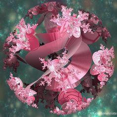 pink fractal spiral flowerbuds