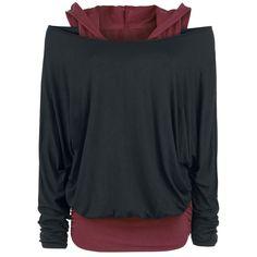 Hooded Bat Double Layer - Langarmshirt von Black Premium by EMP