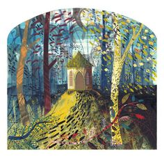 'Fisher's Hall' by Ed Kluz from the 'Northern Arcadia' series for Hornseys' Gallery Historical Architecture, Creative Inspiration, Printmaking, Illustrators, Fairy Tales, Folk, Artsy, Fine Art, Gallery