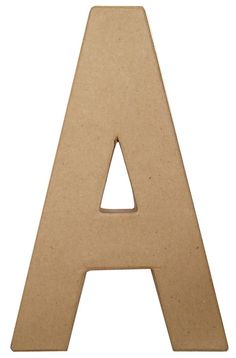 """Paper Mache 8"""" Letter  $2.39 +sh    have to buy min. of 12 however. :( what am I going to do with 12?"""