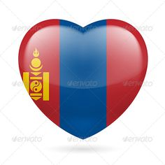 Heart Icon of Mongolia  #graphicriver