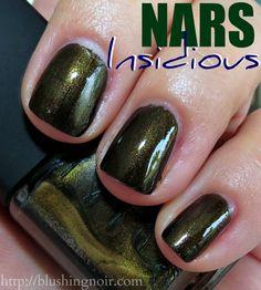 NARS Insidious Nail Polish Swatches via @blushingnoir