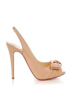 my style pinboard christian louboutin Bow peep-toe heels $189