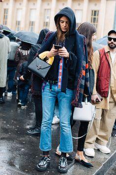 Street style at the Paris Fashion Week fall 2017-2018 Photo by Sandra Semburg
