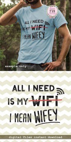 All I need is wifi wifey fun funny geek nerd by LoveRiaCharlotte
