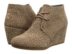 cb51e9f8ada TOMS Desert Wedge Cheetah Suede Printed - Zappos.com Free Shipping BOTH  Ways size 10