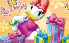 Daisy Duck Edible Icing Sheet Cake Decor Topper  by BlingYourCake