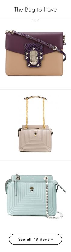 """""""The Bag to Have"""" by tessabit ❤ liked on Polyvore featuring bags, handbags, beige, leather tote bags, purple purse, leather purses, leather totes, hand bags, shoulder bags and leather zip pouch"""
