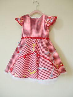 Vestido infantil xadrez festa junina 003