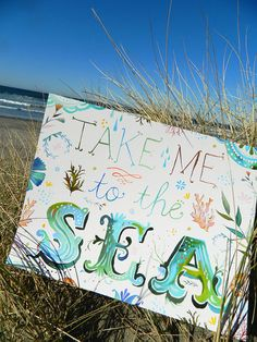 Take Me To The Sea  Large Format by thewheatfield on Etsy, $22.00