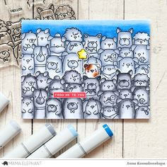 Mama Elephant Stamp Highlight: The Dog's Woof @akossakovskaya @mamaelephant #cardmaking #mamaelephant