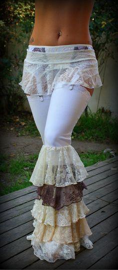 Ruffle Fairy Pants Tribal Fusion Belly Dance