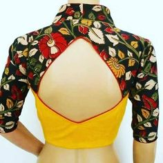 Latest blouse back neck design - The Handmade Crafts Latest blouse back neck design - The Handmade Crafts Netted Blouse Designs, Saree Blouse Neck Designs, Simple Blouse Designs, Stylish Blouse Design, Blouse Patterns, Sari Blouse, Traditional Blouse Designs, Blouse Designs Catalogue, Back Neck Designs