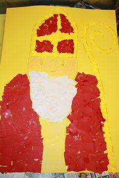 Sinterklaas met papierstukjes